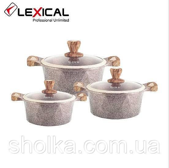 Набор посуды Lexical LG-340601-5 (20/24/28см.)