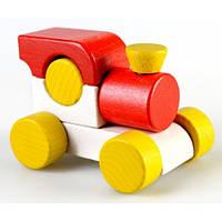 Деревянная Игрушка Паровозик Малыш, красный Ду-02 Руди