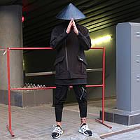 Мужской черный плащ Kintaro