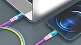 Кабель REAL-EL MFI PD USB Type C - Lightning Rainbow 1m, фото 7