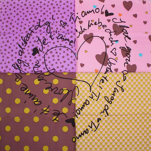 Радужный женский шелковый платок размером 84*86 см ETERNO (ЕТЕРНО) ES2611-3