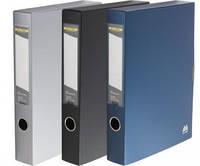 Папка-бокс BUROMAX 3201-09 для документів на липучці сіра