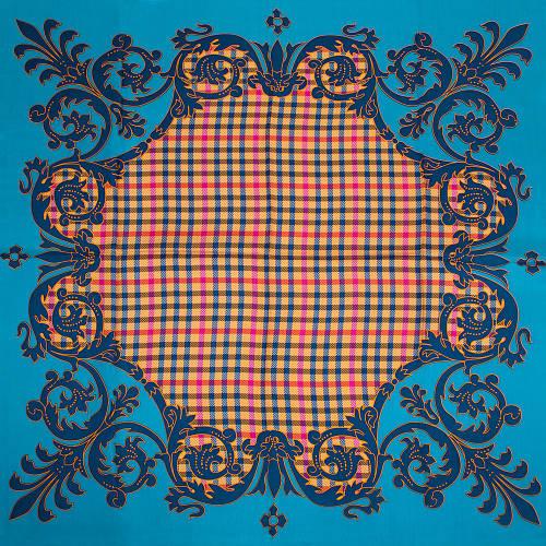 Красивый женский шелковый платок размером 90*89 см ETERNO (ЕТЕРНО) ES2611-5