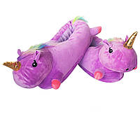 Тапочки единороги фиолетовые детские 31-35 р.