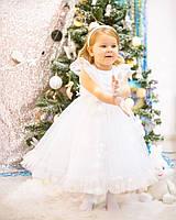 Белое новогоднее платье детское, платье на новый год девочке, новогоднее платье для детей