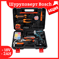 Шуруповерт Bosch TSR18-2LI (18V 2AH) с набором инструментов (97 ед.) Шуруповерт бош 18 вольт