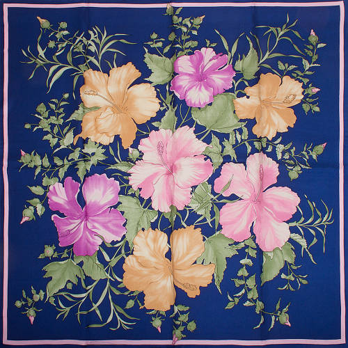 Женский яркий шелковый платок размером 88*88 см ETERNO (ЕТЕРНО) ES2611-8
