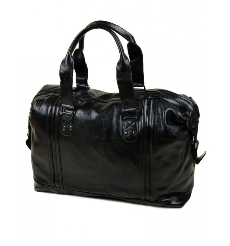 Стильная мужская дорожная сумка из кожезаменителя dr.Bond, 98802 black, черная