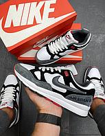 Мужские кроссовки Nike Air Span 2 обувь Найк замшевые серые повседневные кеды модные модель 2021 Вьетнам осень