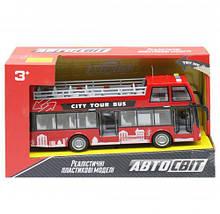 """Игрушечный двухэтажный автобус """"Автосвіт"""", красный AS-2627, Игрушечные автобусы"""