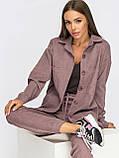 Вельветовый костюм из рубашки и брюк-джоггеров в спортивном стиле, фото 6