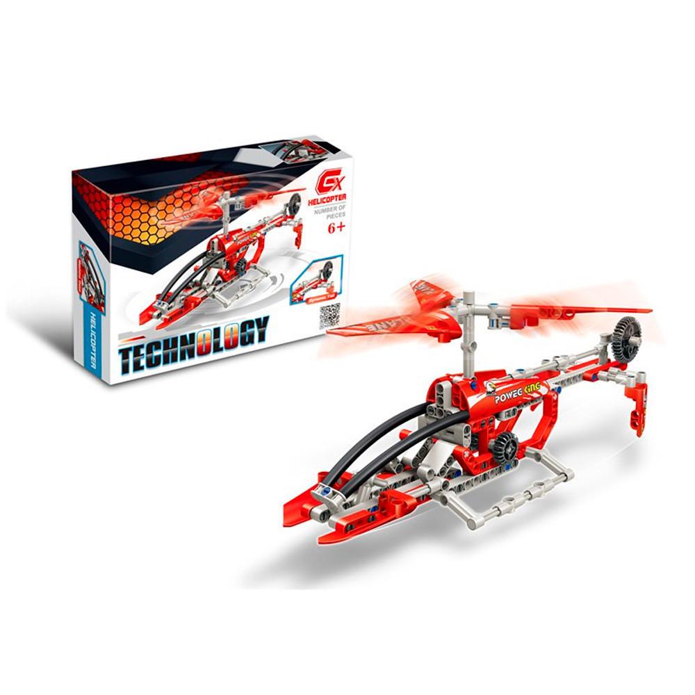 Дитячий блоковий конструктор вертоліт рятувальника (Helicopter 210 блоків)
