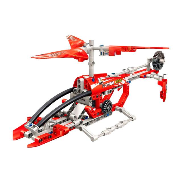 Детский блочный конструктор вертолет спасателя (Helicopter210 блоков)