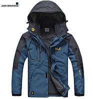Мужская куртка 2 в 1 JACK WOLFSKIN. Куртки спортивные мужские. Флисовая куртка. Водонепроницаемые куртки.