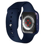 Смарт часы Фитнес браслет трэккер Apl Watch Series 6 M26 PLUS пульсометром тонометром синие + Подарок, фото 3