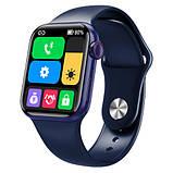 Смарт часы Фитнес браслет трэккер Apl Watch Series 6 M26 PLUS пульсометром тонометром синие + Подарок, фото 5