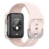 Смарт часы Фитнес браслет трэккер Smart Watch T68 пульсометром тонометром температура тела золотые + Подарок, фото 3