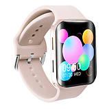 Смарт часы Фитнес браслет трэккер Smart Watch T68 пульсометром тонометром температура тела золотые + Подарок, фото 4