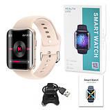 Смарт часы Фитнес браслет трэккер Smart Watch T68 пульсометром тонометром температура тела золотые + Подарок, фото 6