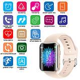 Смарт часы Фитнес браслет трэккер Smart Watch T68 пульсометром тонометром температура тела золотые + Подарок, фото 7