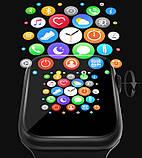Смарт часы Фитнес браслет трэккер Smart Watch T68 пульсометром тонометром температура тела золотые + Подарок, фото 8