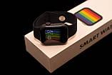 Смарт часы Фитнес браслет трэккер Smart Watch T68 пульсометром тонометром температура тела золотые + Подарок, фото 10