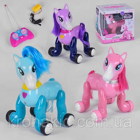 Інтерактивна іграшка конячка поні єдиноріг 2031 на радіокеруванні: проектор, світло, звук (рожевий/фіолетовий), фото 2