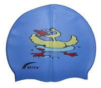 Детская шапочка для плавания синего цвета, с рисунком, фото 1