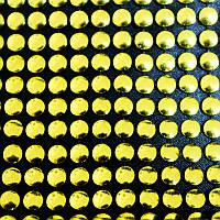 Сетка декоративная золотая 18рядов(ширина 11см).Цена за 4ряда страз(отрезок 11х2,5см)