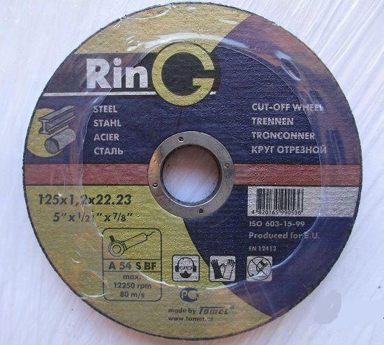 Круг отрезной 115х1,0х22 RinG