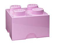 Четырех точечный светло розовый контейнер для хранения Lego 40031738