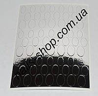 Металлизированная наклейка №999 серебро (63 шт) Подложка для жидкого камня