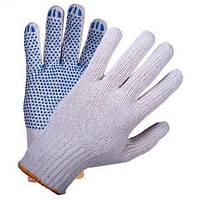 Перчатка с синей точкой ПВХ белая (10шт) 9510 VT