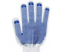 VT Перчатки с синей точкой ПВХ белая (10шт) 9610