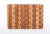Кухонная торцевая разделочная доска из дуба 29х20х2,5 см, фото 1
