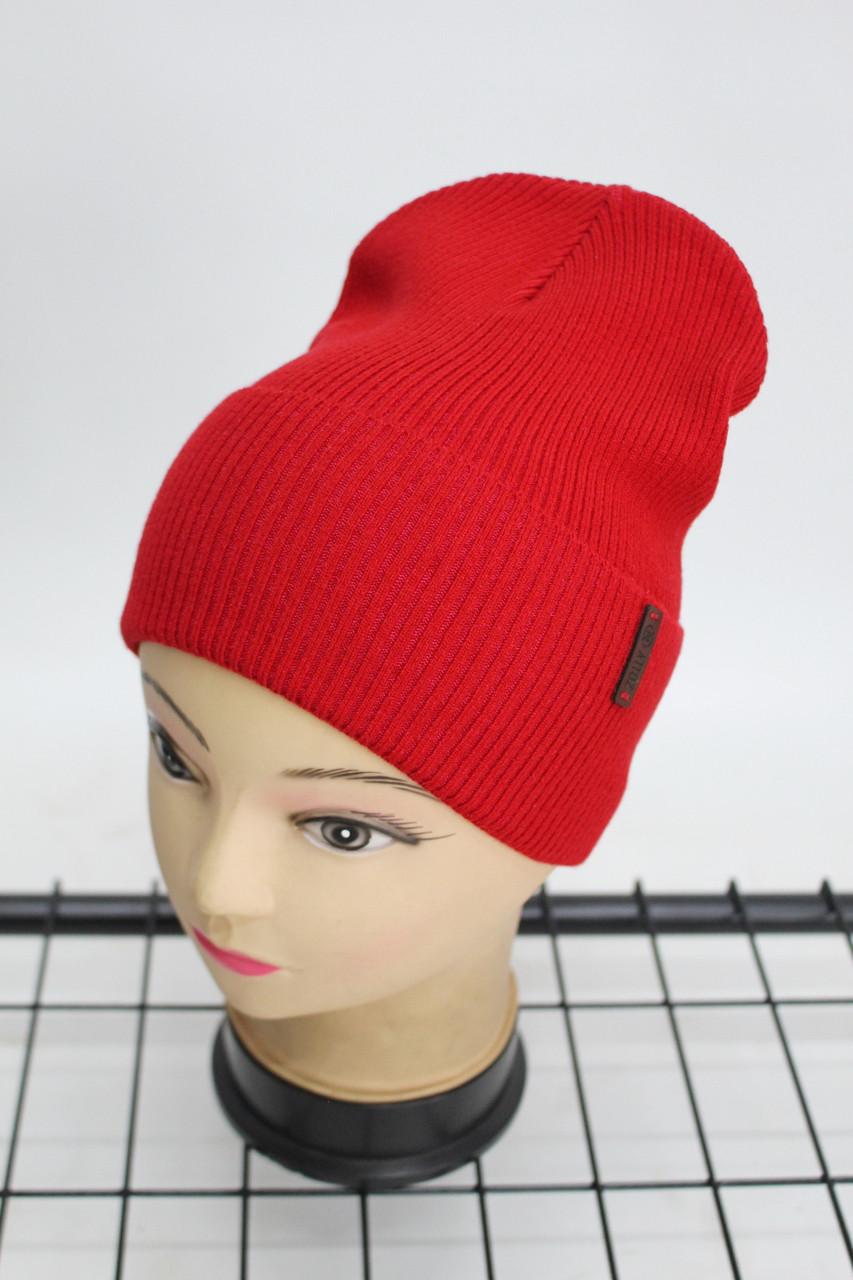 Шапка Zolly жіноча молодіжна однотонна (червона) 801016