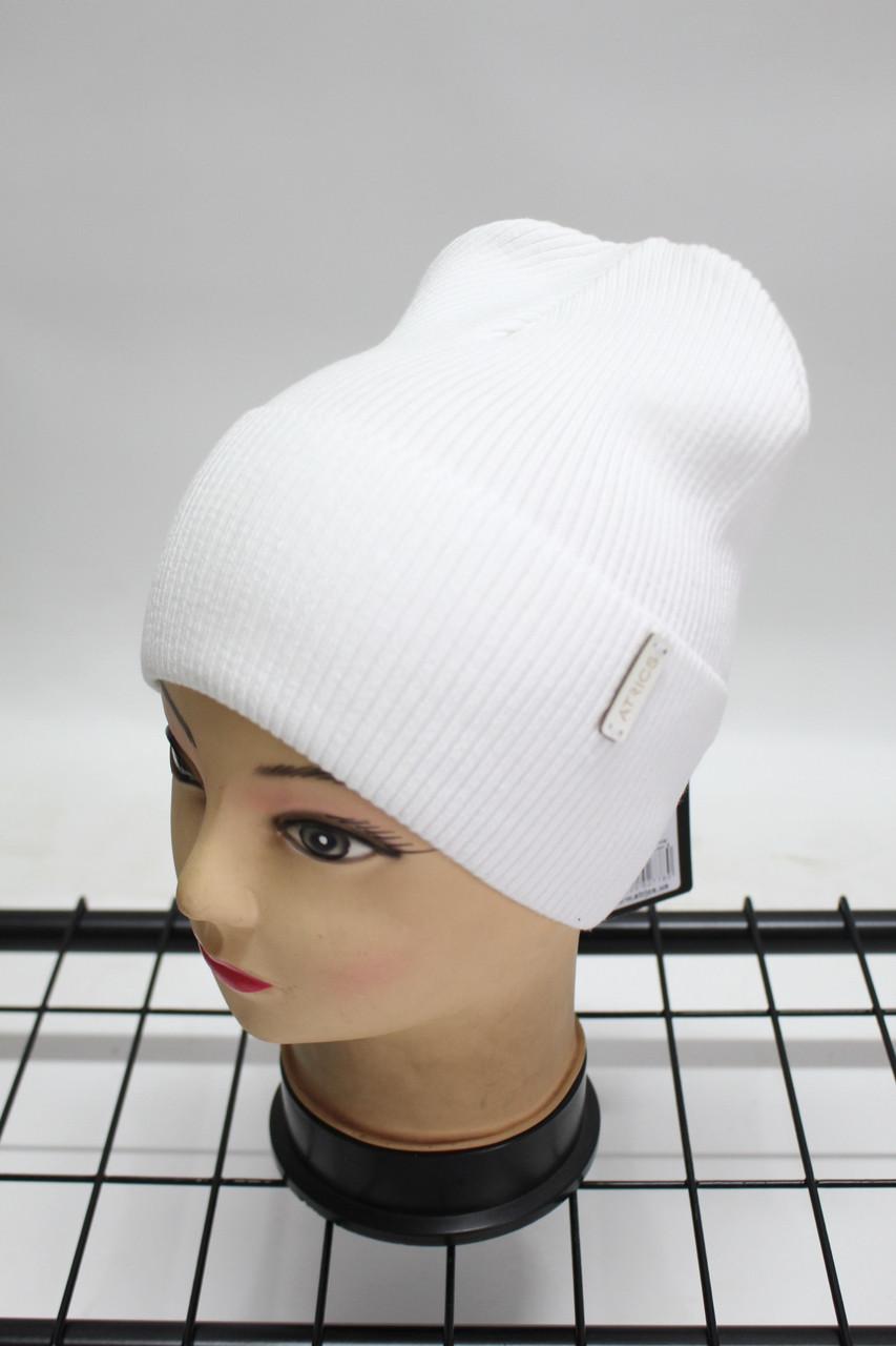 Шапка Atrics жіноча молодіжна однотонна (біла) 802001