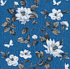 Шпалери паперові Таїсія 1487 синій