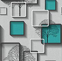 Шпалери паперові Нелмі 1490 бірюзовий, фото 1