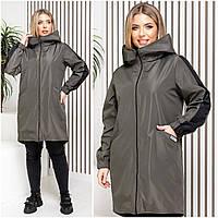 Плащ-пальто женское20037 Батал(50-52, 54-56)Ns4084