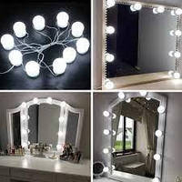 Набір світлодіодних ламп для дзеркала, 10 шт, фото 1
