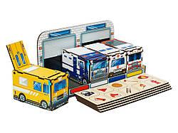 Дерев'яний розвиваючий сортер комодик Службовий транспорт, Ань-Янь (ПСФ027)
