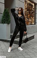 Велюровий прогулянковий спортивний костюм жіночий повсякденний весна-осінь р-ри 42-48 арт. 0432, фото 1