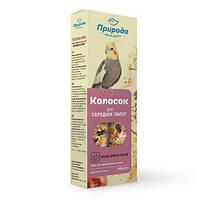 Ласощі Природа Колосок для середніх папуг, мультифрукт, 140г