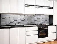 Кухонна панель на кухонний фартух 3д стіна з кладкою цегли, на двосторонньому скотчі 68 х 305 см