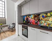 Панель кухонні, замінник скла з морськими глибинами, на двосторонньому скотчі 68 х 305 см