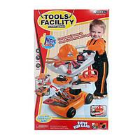 Детский игровой набор инструментов 36778-46, набор инструментов для мальчиков, игрушечный набор (66-39,5-13см)