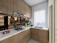 Панель кухонні, замінник скла бруклінський міст в променях вогнів, на двосторонньому скотчі 68 х 305 см