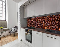 Панель на кухонний фартух жорстка кавові зерна, на двосторонньому скотчі 68 х 305 см