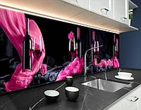 Кухонна плитка на кухонний фартух келих з вином, з двостороннім скотчем 62 х 205 см